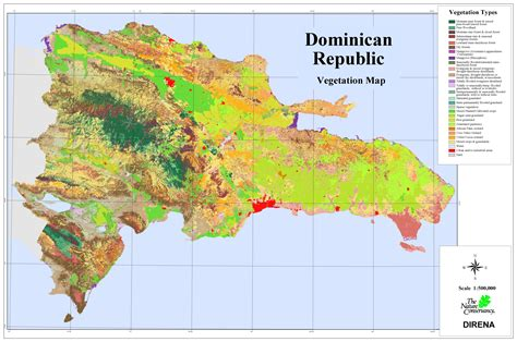 dominican republic dominican republic vegetation map dominican republic