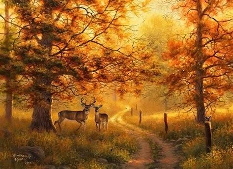 bob ross painting deer abraham мир животных живопись