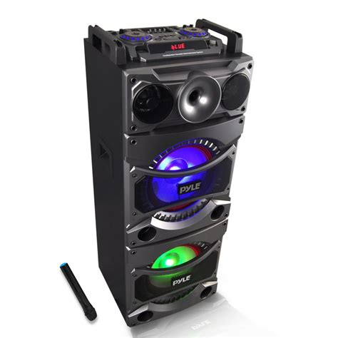 Speaker Karaoke pyle psufm1038bt home and office pa loudspeakers cabinet speakers sound and recording