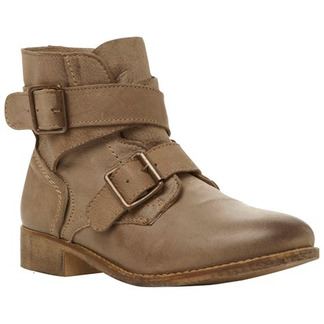 steve madden teritory ankle boots in brown lyst