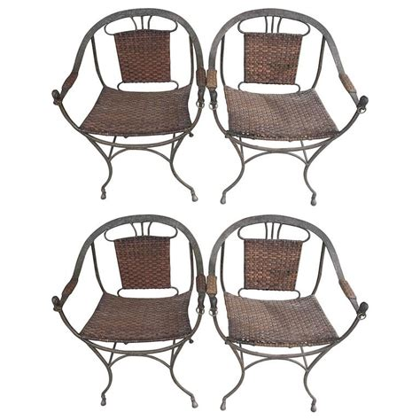 Wrought Iron Dining Chairs For Sale Wrought Iron Mid Century Modern Dining Chairs For Sale At 1stdibs