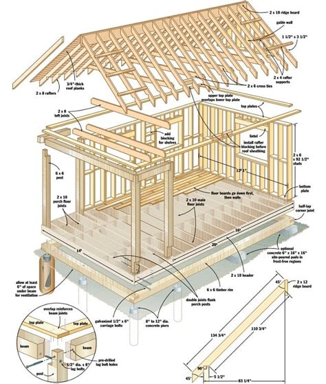 cabin design plans free plans build your own cabin for under 4 000 tiny
