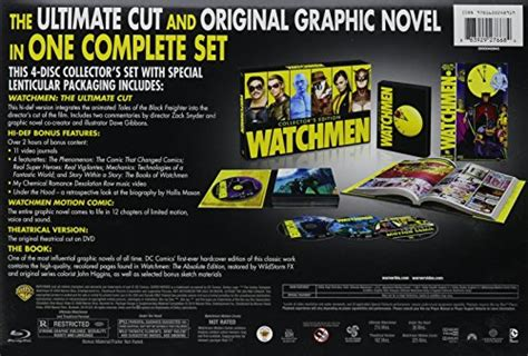 watchmen collectors edition box 1401270344 watchmen collector s edition ultimate cut graphic novel blu ray video store online