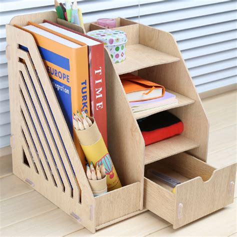 Diy Desk Organizers Diy Wooden Desk Organizer With Simple Creativity In Thailand Egorlin