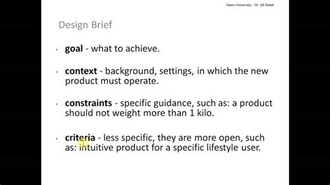 design brief with specifications and constraints what to write in a design brief tutorial with gil youtube