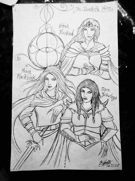 The three Ironteeth heirs! Manon Blackbeak, Petrah