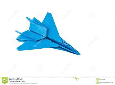 Fighter Jet Origami - origami f 15 eagle jet fighter vliegtuig stock