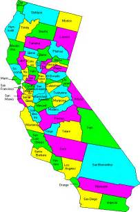 maps of california counties map of counties in northern and southern california also