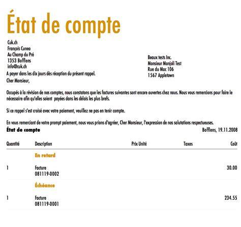 Exemple De Lettre Administrative De Rappel Modele Facture De Rappel Document