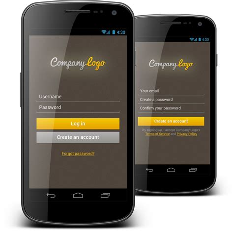 templates login android login form we created very nice android mobile login form