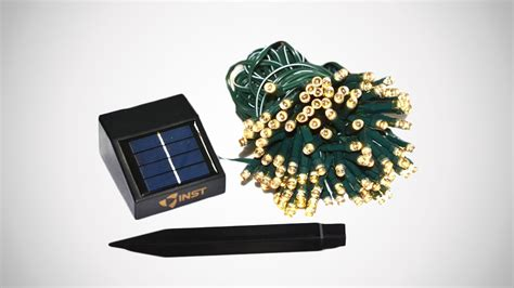 solar powered christmas lights dudeiwantthat com