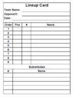 lineup card umpire template spreadsheet 11 best sports recreation documents images on