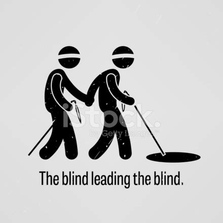 the blind leading the blind stock vector freeimages.com