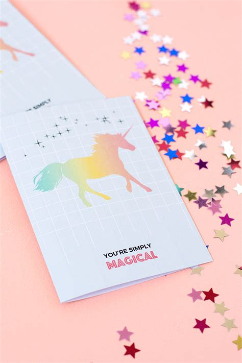 free printable birthday card unicorn printable unicorn greeting card make and tell