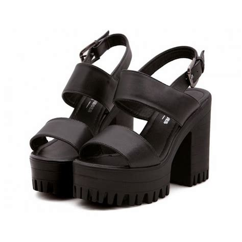 sandals from the 90s black chunky platform 90s sandals