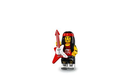 Lego Original Minifigure Rocker Rock Guitar Series gong guitar rocker characters minifigures lego