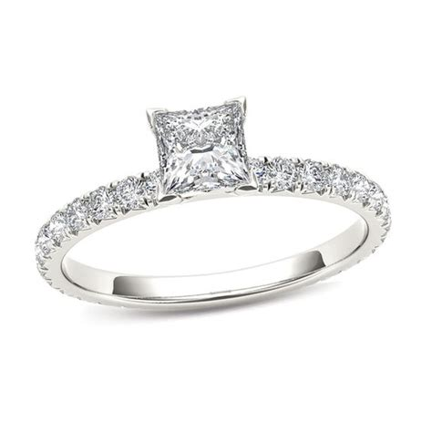 1 ct t w princess cut engagement ring in 14k