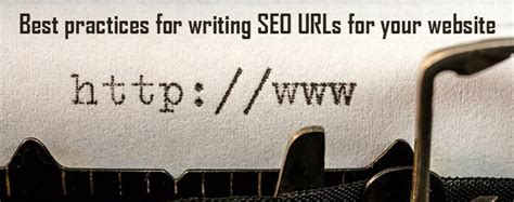 best practices for writing seo urls for your website