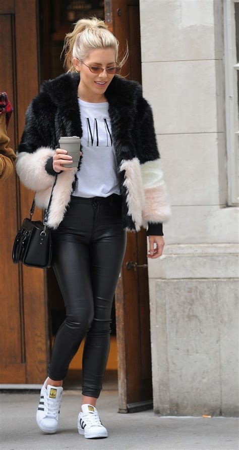 Lovely Ladies In Leather Mollie King In Leather Pants