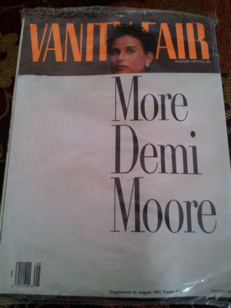 Demi Vanity Fair 1991 by Vintage Vanity Fair More Demi Magazine By