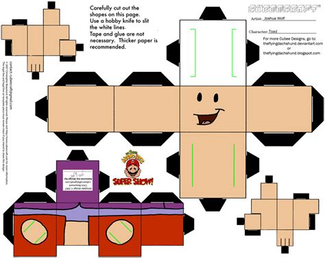Papercraft Shows - toad the mario bros show cubeecraft