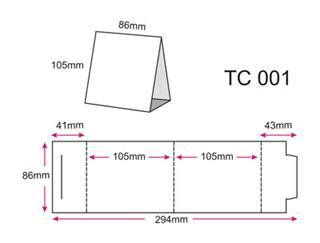 A5 Tent Card Template by Cards On