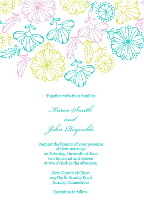 2016 spring blooms wedding invitation and rsvp set