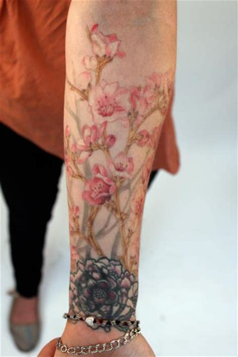 tattoo gallery richmond cherry blossom arm piece by thea duskin tattoos