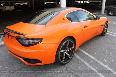 matte orange maserati project maserati granturismo s by dbx wrapped in satin