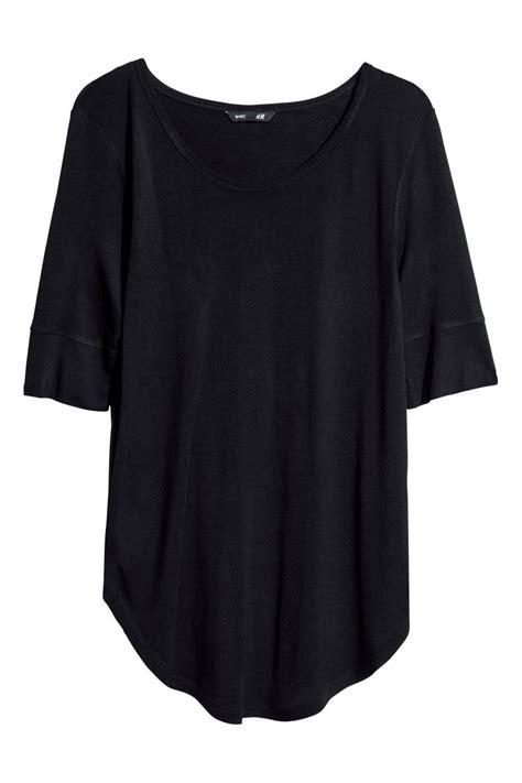 H M Jersey Comfortable jersey top black sale h m us