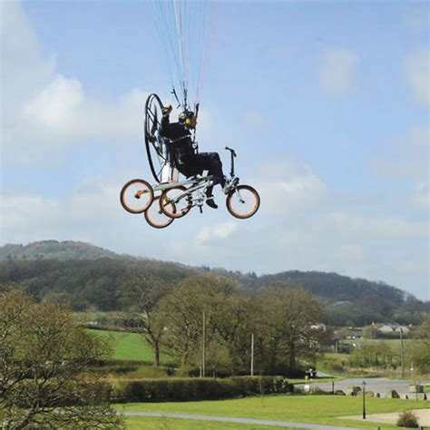 flying on the flying bicycle hammacher schlemmer