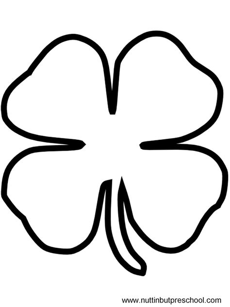 6 best images of shamrock shape printable pattern