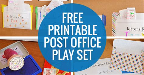 to play at office post office play free printable play set picklebums