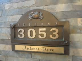 cottage name plaques nautical crab house numbers cottage address plaque