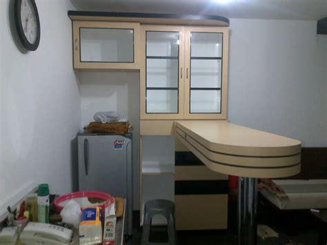 desain lemari mini bar terima pembuatan kitchen set minimalis dan mewah