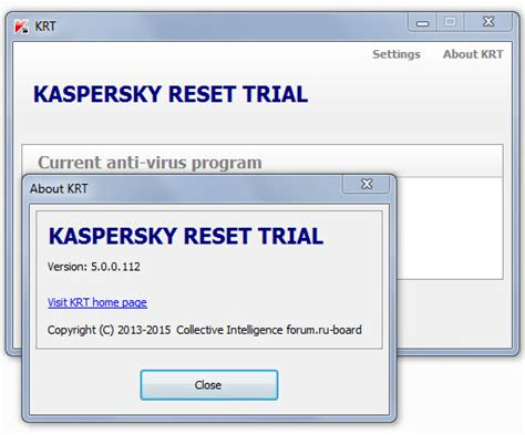 windows 7 trial resetter kaspersky reset trial 5 0 0 112 2015 eklenen programlar