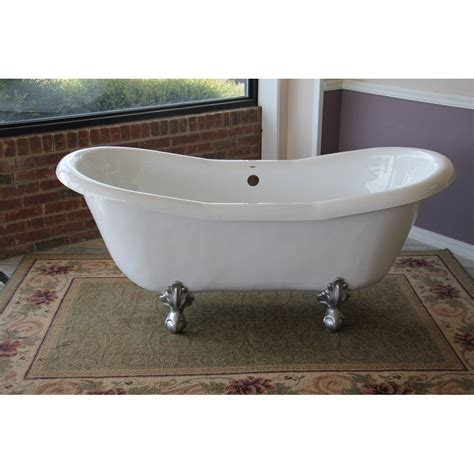 bathtub company duchess 68 inch double slipper clawfoot tub cablecarchic