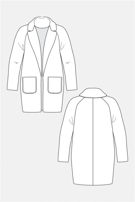 coat template yona wrap coat named supply patterns kollabora