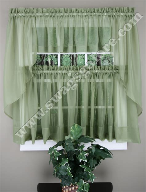 kitchen curtains swags elegance sheer curtains tiers swags valance onyx