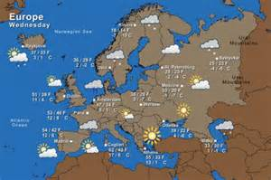 Europe Weather Map by Irish Weather Forecast The Irish Times
