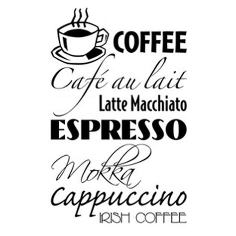 coffee wall stickers coffee wall sticker large kitchen wall signs