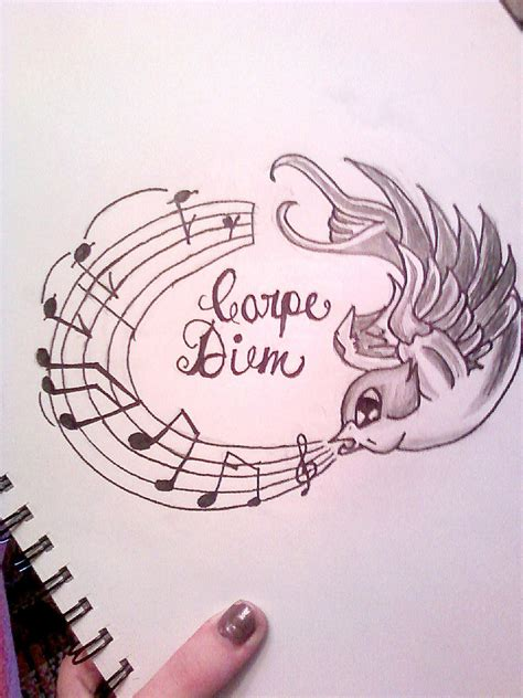 carpe diem tattoo design carpe diem design by xtastexofxinkx on deviantart