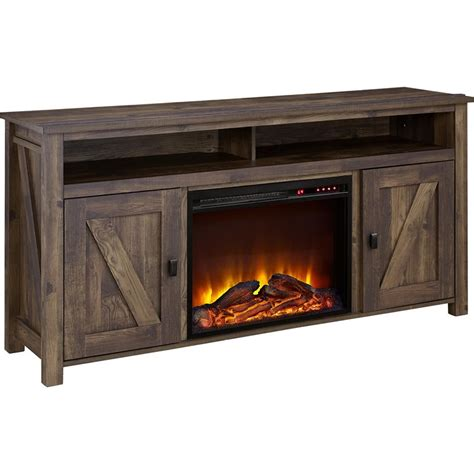 60 fireplace tv stand 60 fireplace tv stand in heritage pine 1795096com
