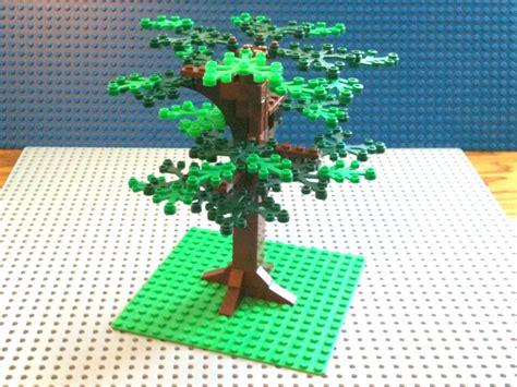 how to make a lego tree tutorial lego oak tree cc