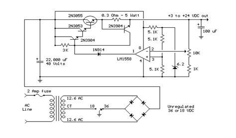 3v power supply circuit diagram 3v to 24v variable power supply