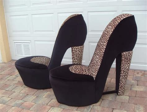 high heel chairs for sale buy 2 leopard high heel shoe