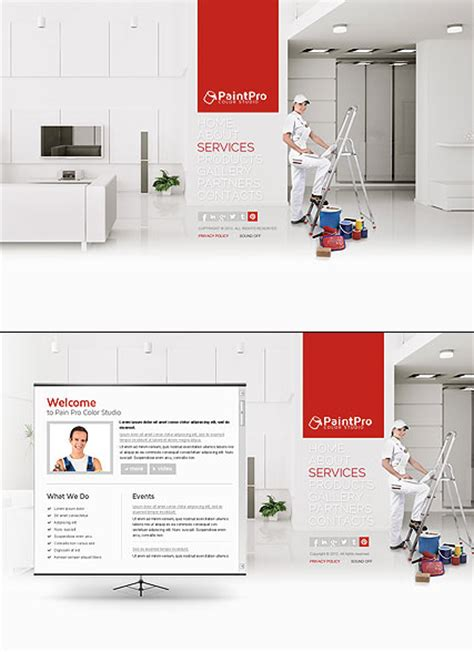 House Painting Html5 Template Best Website Templates House Painter Website Template