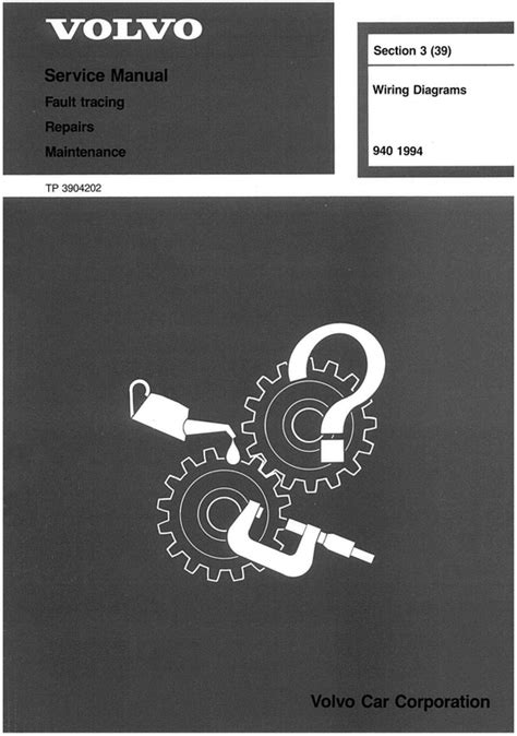 volvo 940 wiring diagram troubleshooting manual 1994