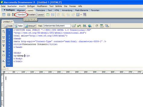 dreamweaver tutorial registration form tabellenbearbeitung in dreamweaver dreamweaver tutorials de
