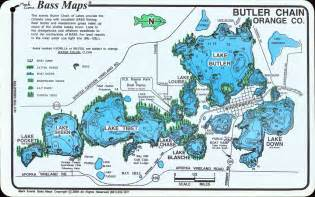chain of lakes florida map butler chain of lakes home gt florida bass maps